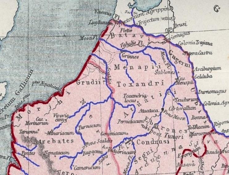 Arnoldus Buchelius - Northern Netherlands in Roman times - Belgae