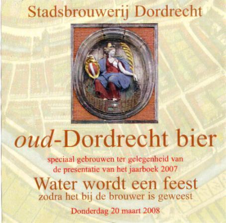 Bieretiket Oud-Dordrecht bier