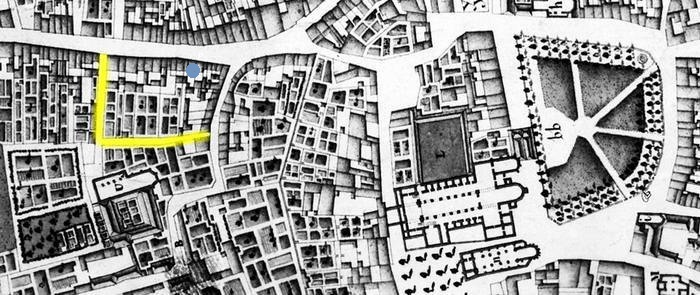 Commel en St Servaas - Stadsplattegrond 1748 Larcher d'Aubancourt