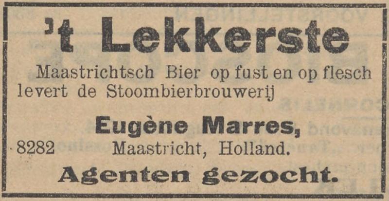 Eugene Marres advertentie Nieuws van den dag Ned Indie 8 8 1918 en Bataviaasch Nieuwsblad 1914-08-12
