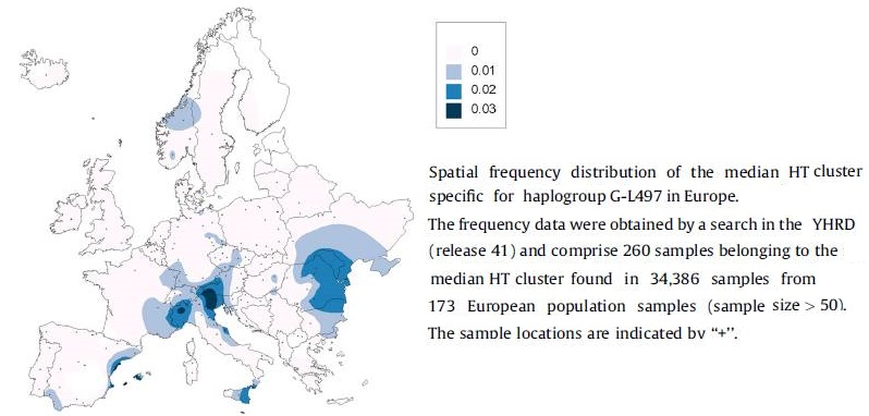 G-L497_frequenties in Europe