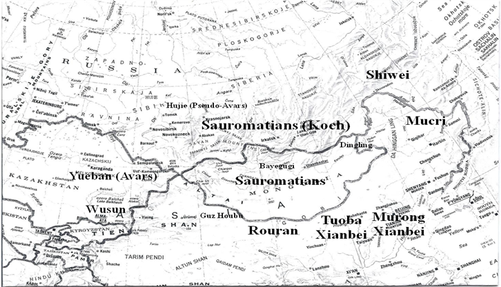 Map of Sauromatians