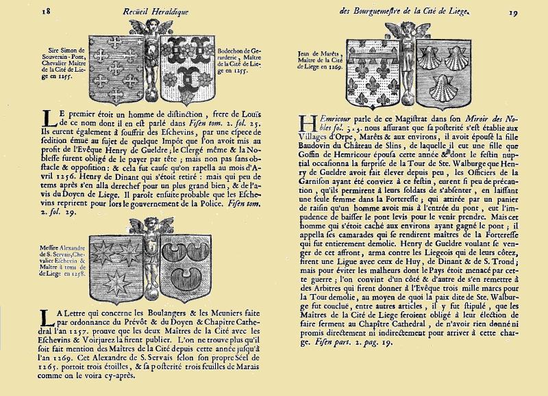 Recueil héraldique des bourguemestres de la noble cité de Liege;