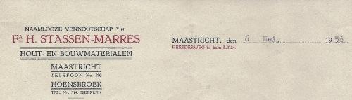 Stassen-Marres - briefhoofd - 1936