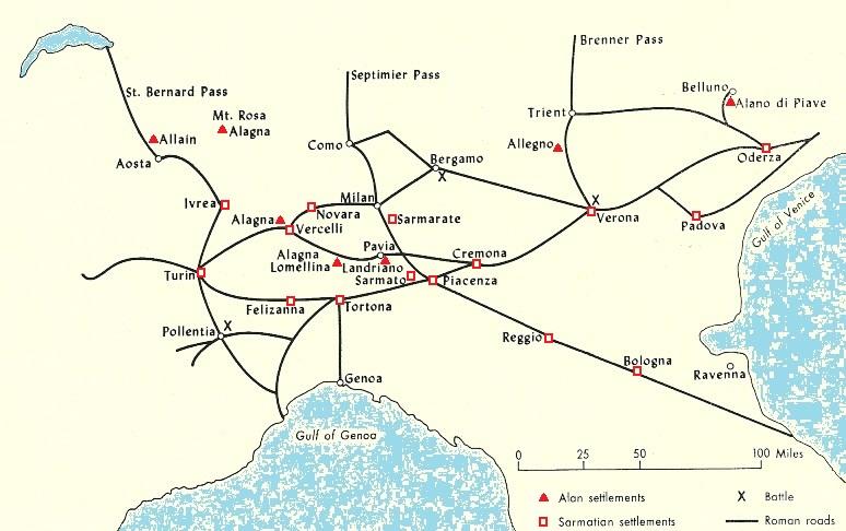 gebieden italië kaart