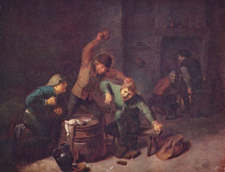Adriaen Brouwer (1606-1638), olieverfschilderij, handgemeen