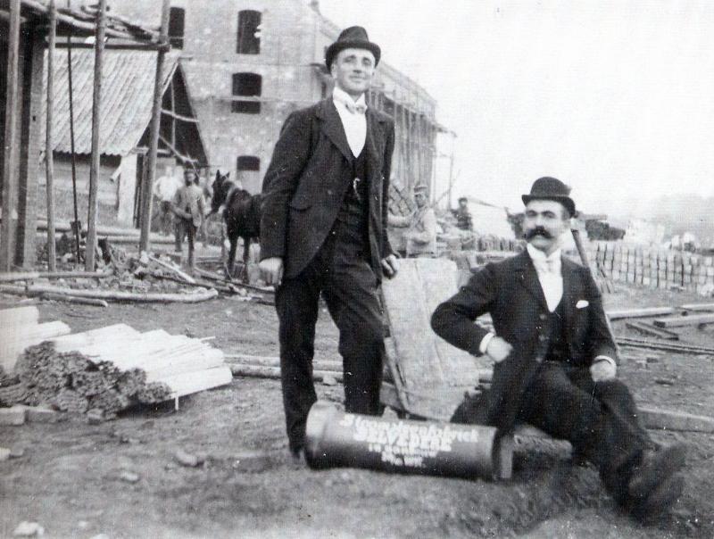 De Steenfabriek Belvédère in aanbouw in 1908. Coll.& © HCL te Maastricht.