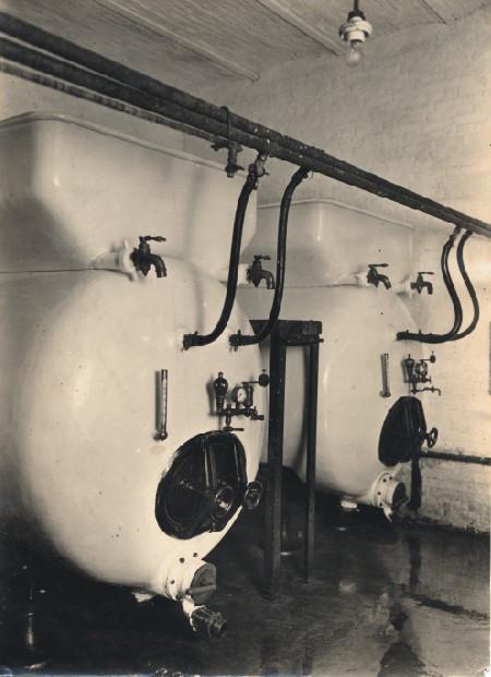 Brouwketels van de brouwerij Eugène Marres