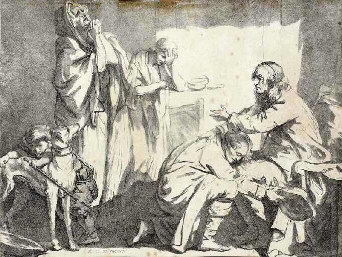La Bénédiction paternelle; Le départ de Bazile (autre titre)