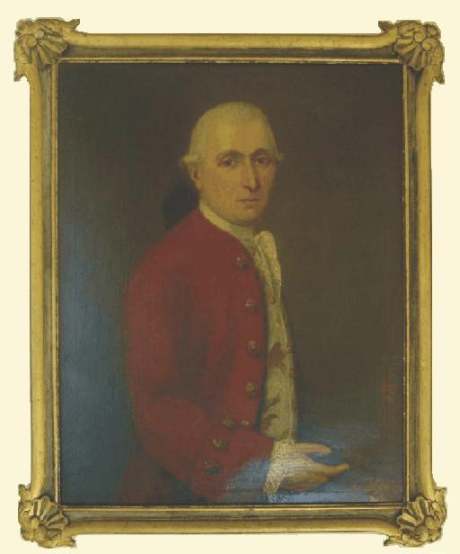 Geschilderd Portret van burgemeester Pierre Eijben