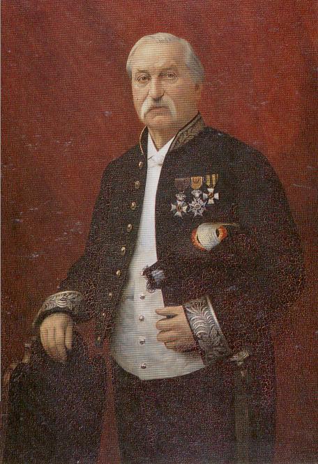 Geschilderd portret van mr. G.L.D. Franquinet, olieverfschilderij geschilderd door Henri Govaerts.