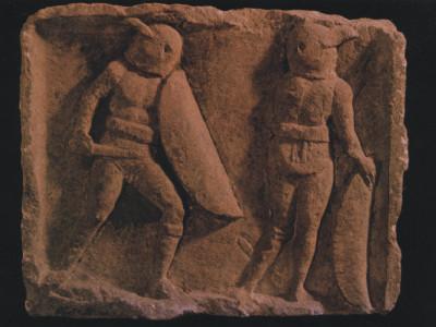 Het einde van een gladiatorengevecht collectie Bonnefanmtenmuseum Maastricht.