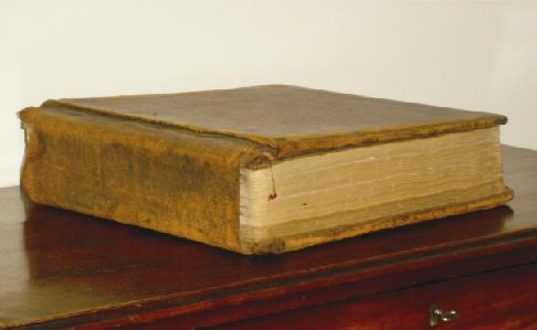 Het oude grootboek van de brouwerij Eugène Marres