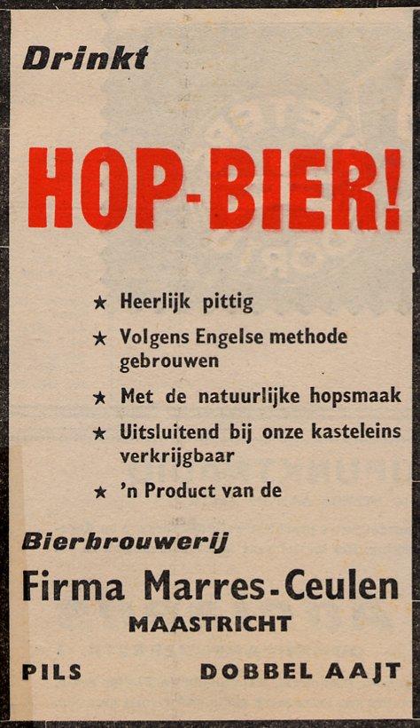 Reclamebord voor Marres bier