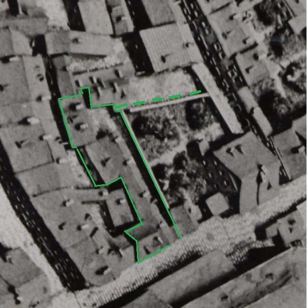 Het centrum van Maastricht op de maquette van 1750.