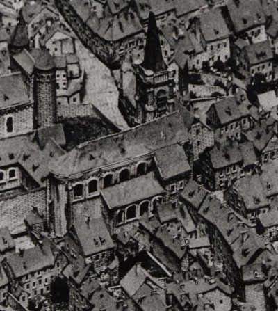 Het Sint Nicolaas Panhuis op de Maquette van 1750