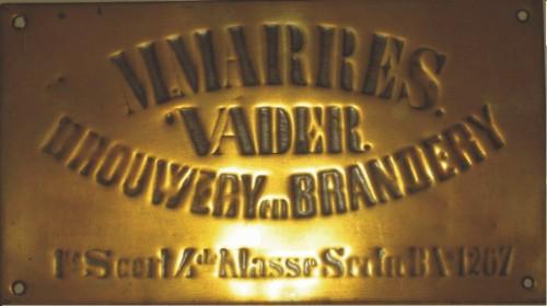 Koperen uithangbord bierbrouwerij Marres, Coll.: E.Q.M. Marres, Abcoude.