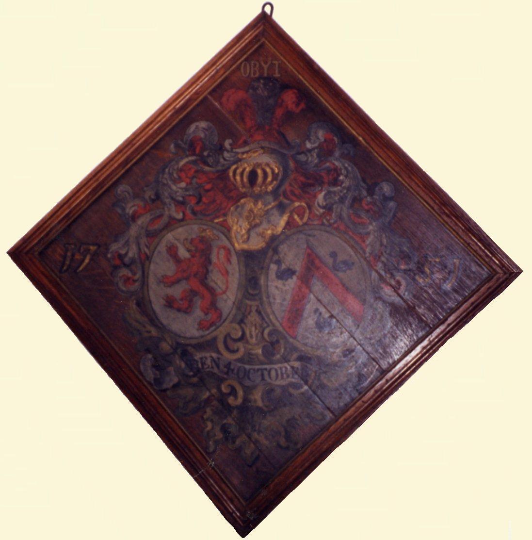 Rouwbord van Baexem van Thielen- van der Gracht de Rommerswael, 1751