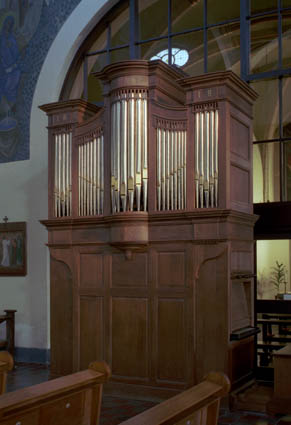 orgel H. Martinus te Geulle aan de Maas. Foto: Ton Reijnaerdts.