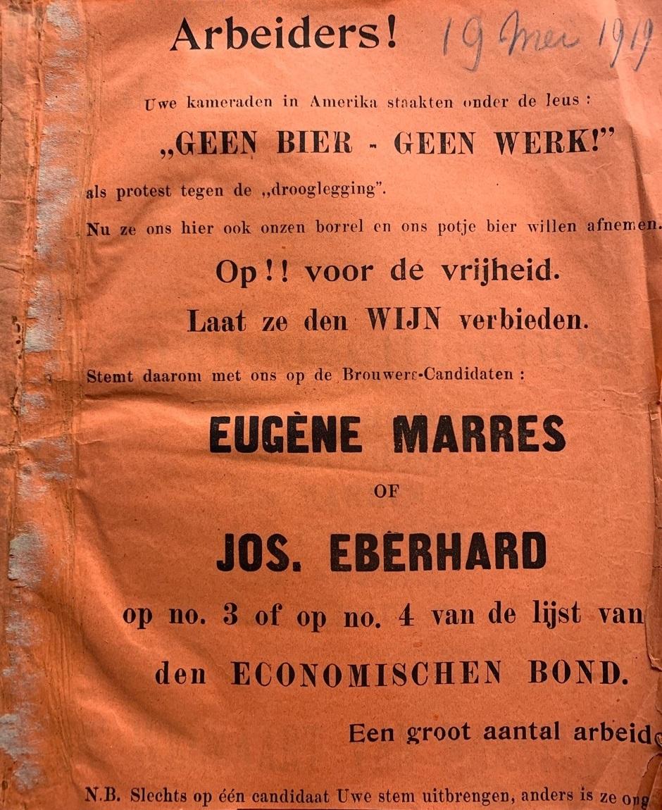 verkiezingspamflet tweede kamer verkiezingen 1919, Economische Bond