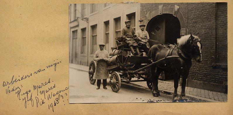 Peroneel van Edmond Marres: Hugo Mares, Jef Mares en Pie Wagenaar omstreeks 1918