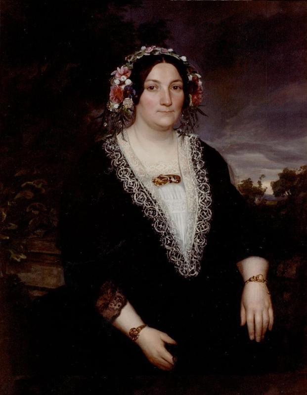 Marie Bonjour 1806 - 1876, geschilderd portret In particulier bezit