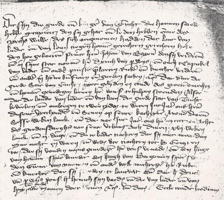 Schadelijsten van Burgers van Maastricht 1408