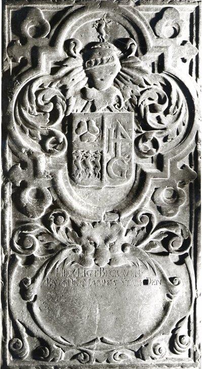 De grafzerk van Pau de Marres in de St Janskerk te Maastricht.