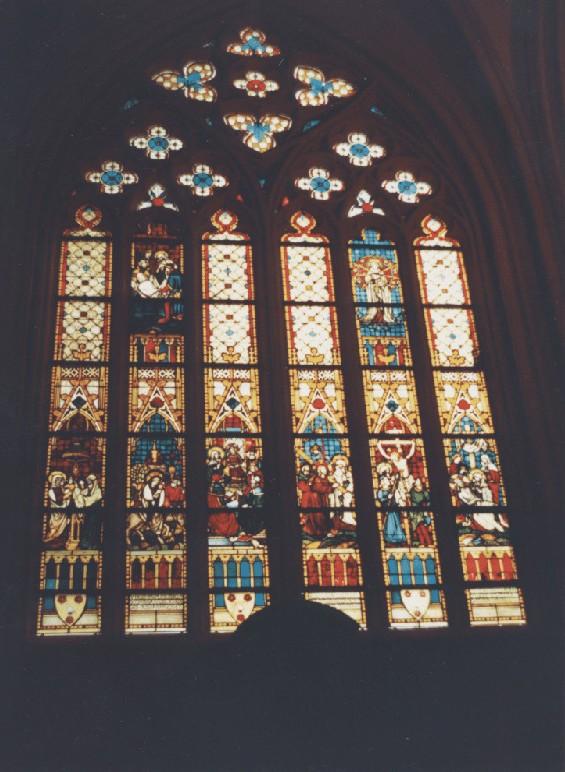 Sint Servaaskerk te Maastricht - Raam geschonken door GDL Franquinet