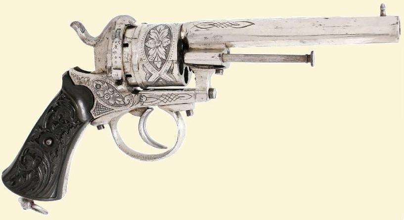 Revolver uit de wapenfabriek van Petrus Stevens te Maastricht