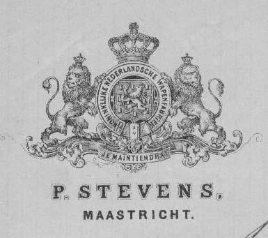 Logo Koninklijke Wapenfabrieken Petrus Stevens, 1870