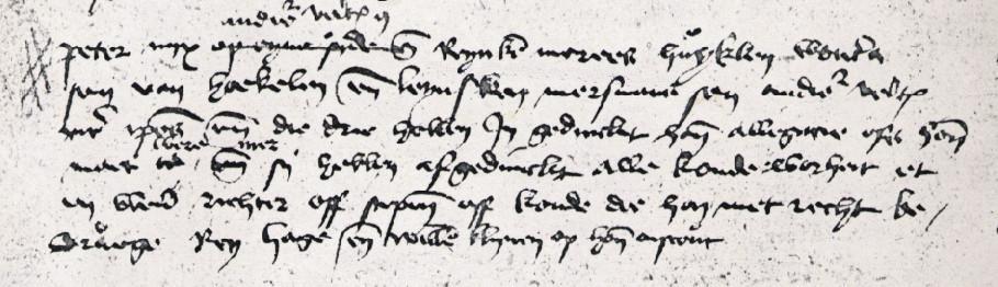 RHCL te Maastricht, Schepenbank van het Hooggerecht van den Vroenhof te Maastricht. nr. 6692, fol. 18v, Voechgeding 22 juni 1445