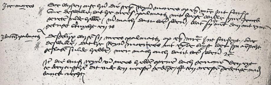 RHCL te Maastricht, Schepenbank van het Hooggerecht van den Vroenhof te Maastricht. nr. 6692, fol. 23, Voechgeding december 1445