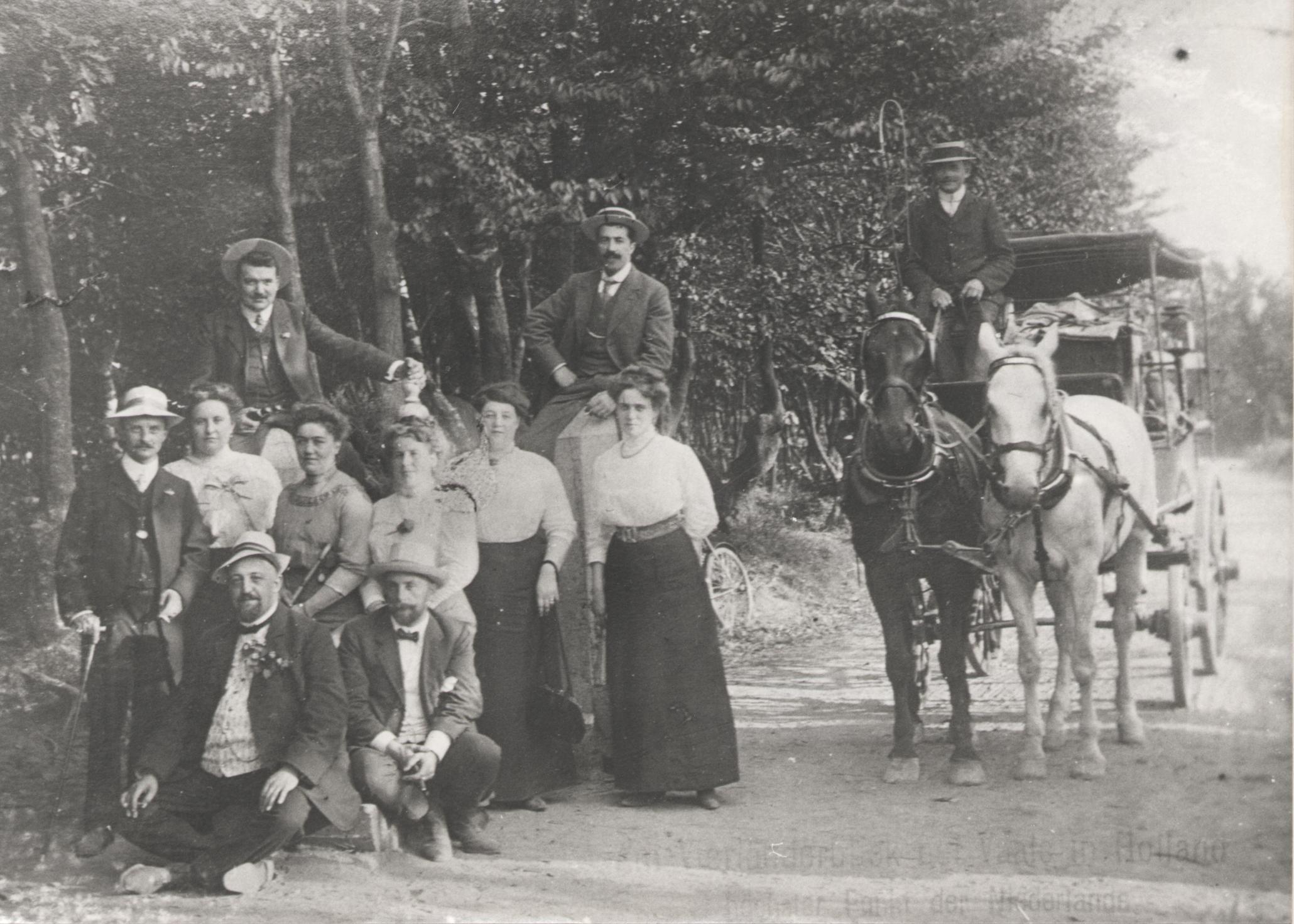 Uit met paard en wagen