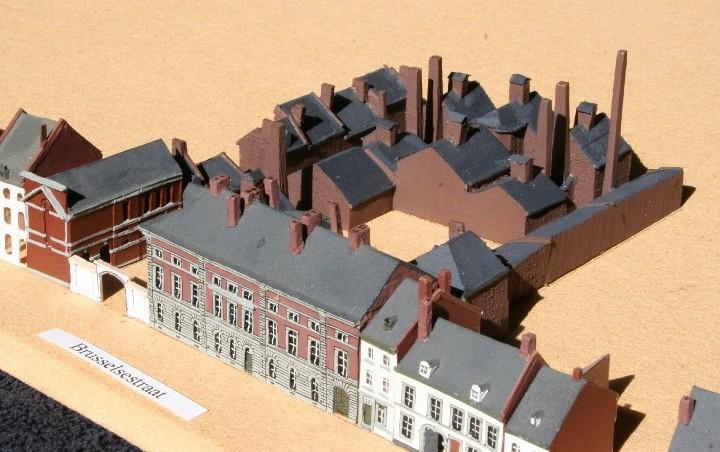 Maquette zoutziederij Marres Maastricht, straatzijde. gebouwd door de Stichting Maastricht 1867.