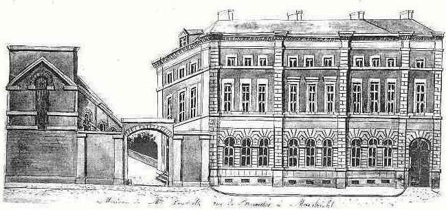 De poort van de zoutziederij en het huis van Seidlitz omstreeks 1850